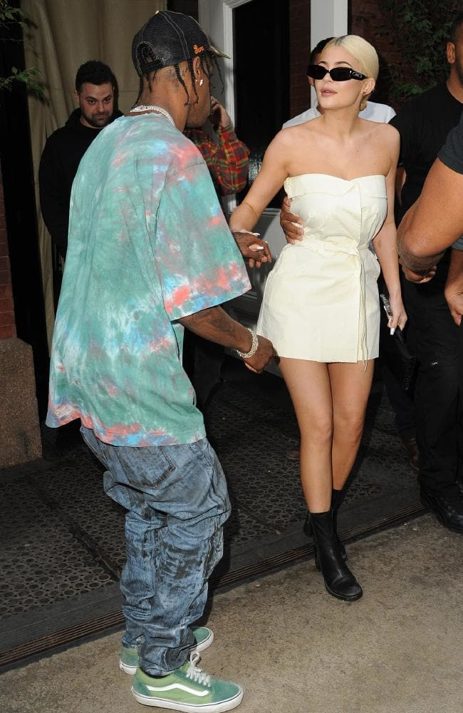 Travis Scott and Kylie Jenner out in New York last week. Picture: MEGA TheMegaAgency.com