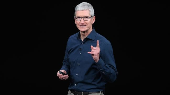 Tim Cook, chief executive officer of Apple, took an unusual step this morning. Picture: Justin Sullivan
