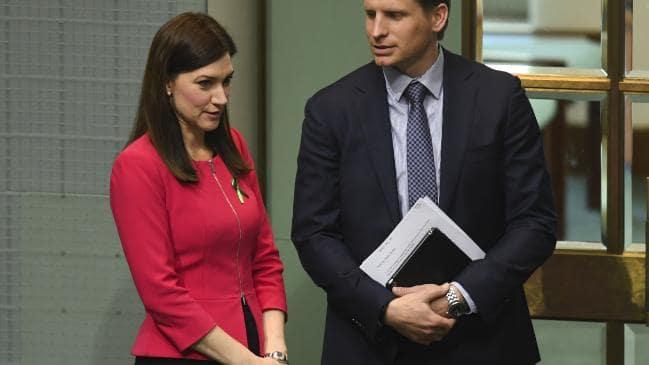 Ms Flint alongside Canning MP Andrew Hastie. Pic: AAP