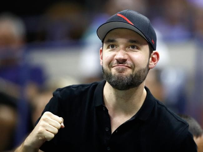 Serena Williams' husband Alexis Ohanian cheers his wife on. Picture: Julian Finney/Getty Images