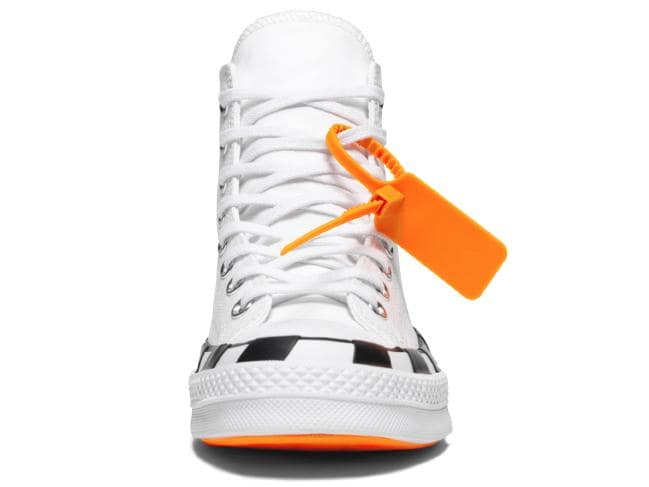 The Converse x Off-White Chuck 70 features a signature orange tag. Picture: Converse