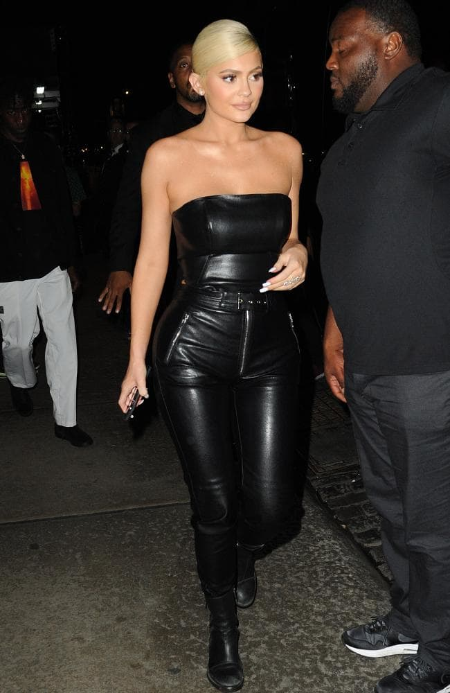 Leather on leather! Kylie Jenner at a MTV VMA