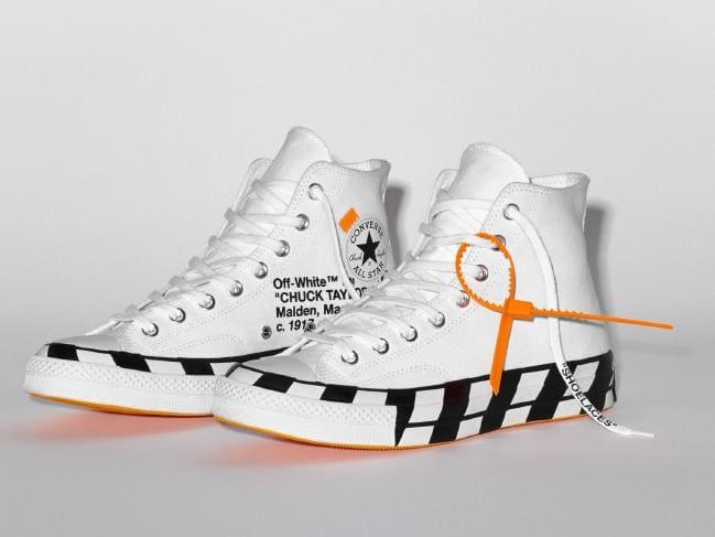The in-demand Converse x Off-White Chuck 70 ($A180). Picture: Converse